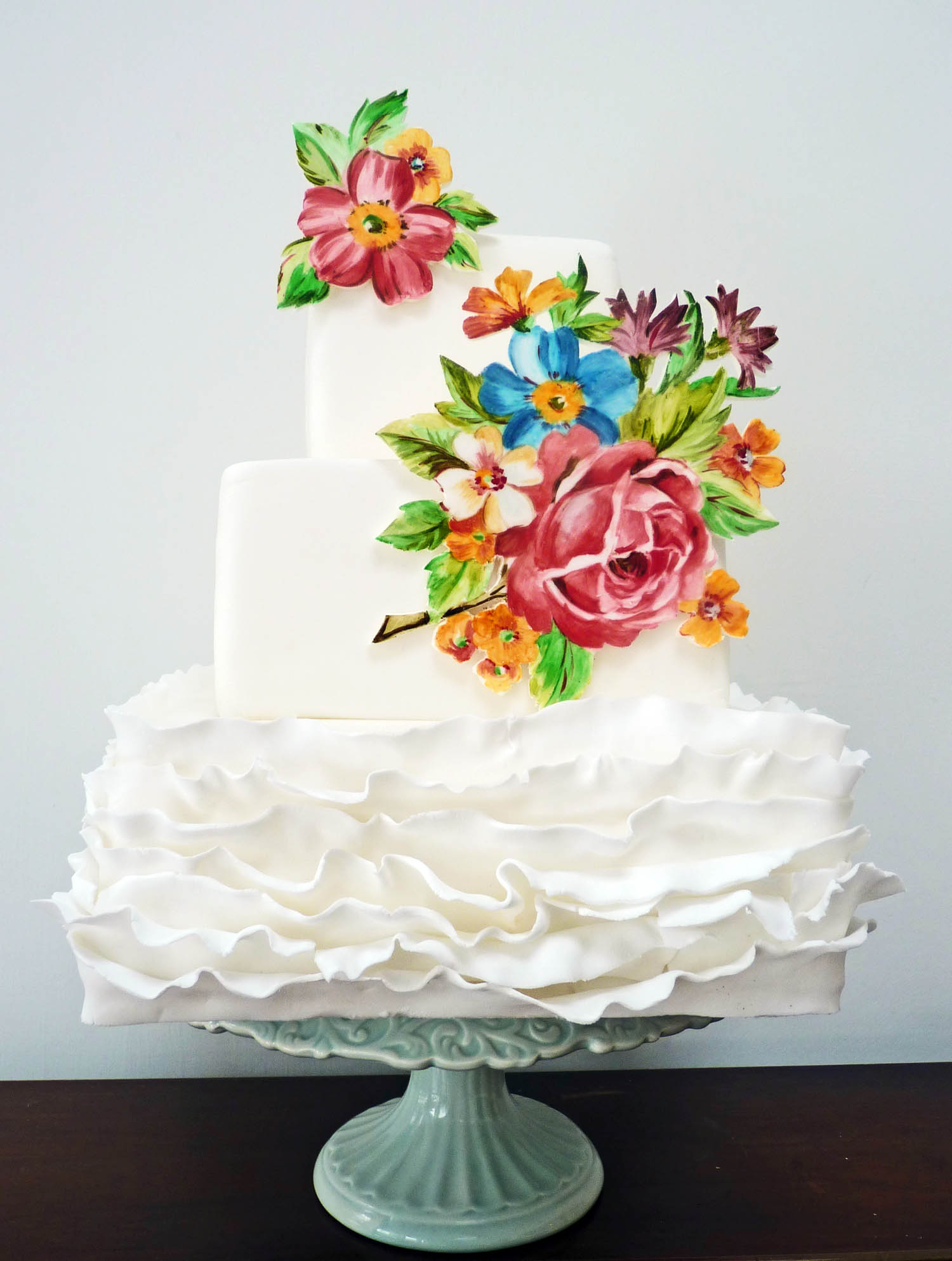 Nevie_pie_cakes_ruffle wedding cake