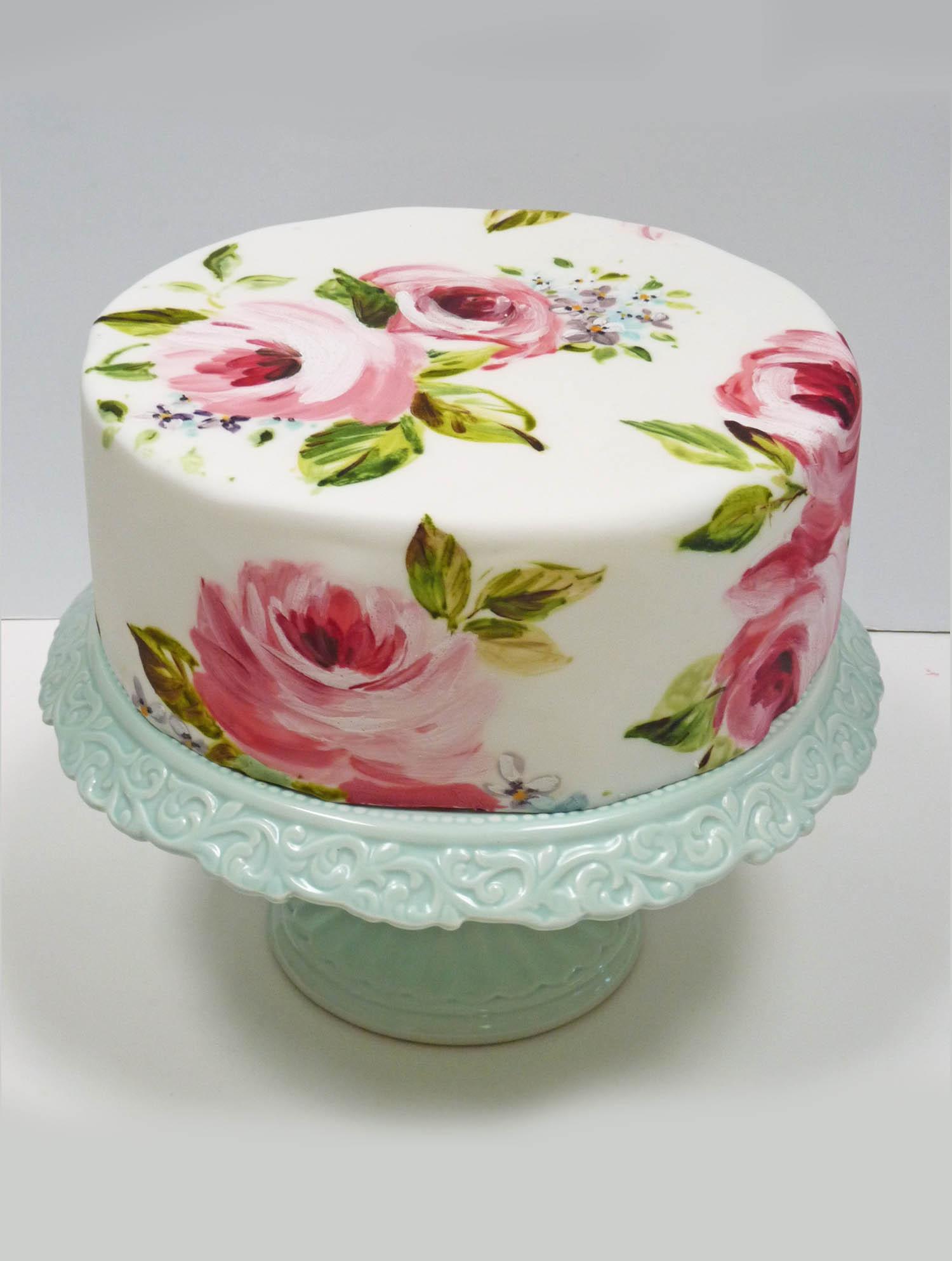 Cake Art Techniques : Painting on Fondant Class Nevie-Pie Cakes